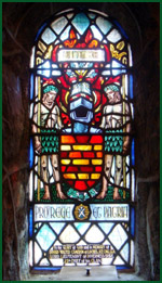 Stained Glass Window at St, Ciaran Church, Achnacarry to 24th Chief Donald Cameron of Lochiel